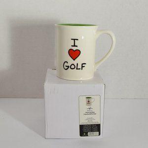 I Love Golf Heart Mug New In Box Enesco Cup Gift